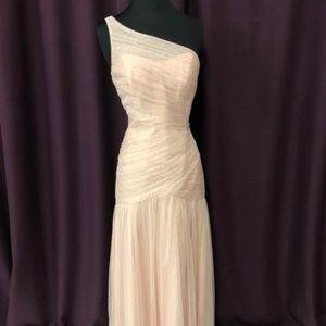 White By Vera Wang One Shoulder Bridesmaid Dress